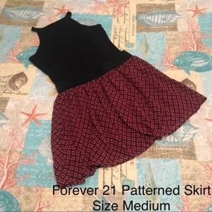 Forever 21 Loose Floral Patterned Skirt Medium